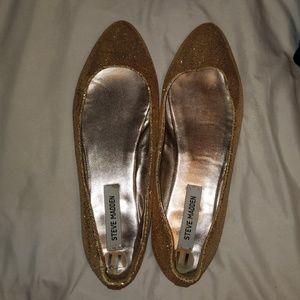 Steve Madden Gold Sequin Flats
